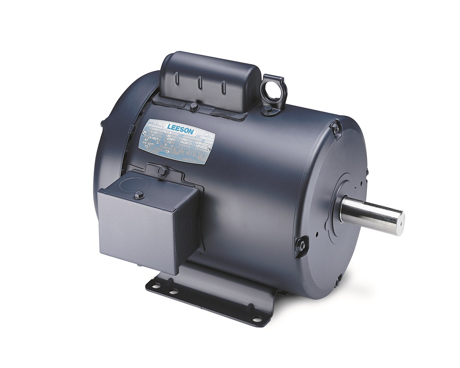 Leeson 102015.00 General Purpose TEFC Motor, 1 Phase, 48 Frame, Rigid Mounting, 1/4HP, 1200 RPM, 115/208-230V Voltage, 60Hz Fequency