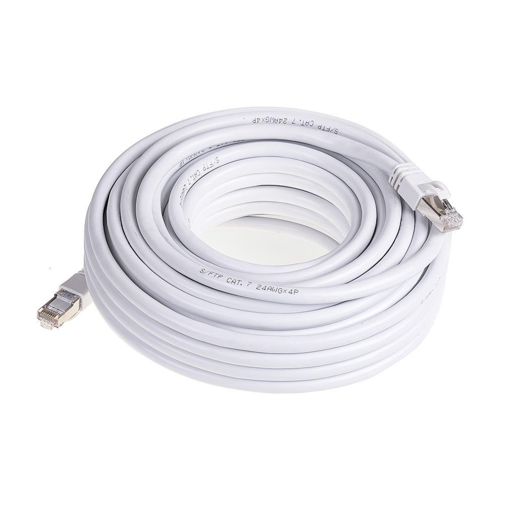 PrimeCables /© 100ft Cat7 Ethernet Cable 10Gbps 600Mhz Cat 7 S//STP Molded Network Lan Cable ~Lifetime warranty