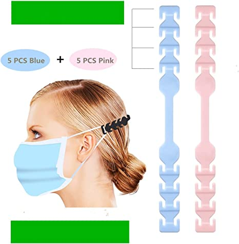 Toptina Mask Strap Extender 5//10pcs Anti-Tightening Ear Protector Decompression Holder Hook Ear Strap Accessories Ear Grips Extension Mask Buckle Ear Pain Relieved
