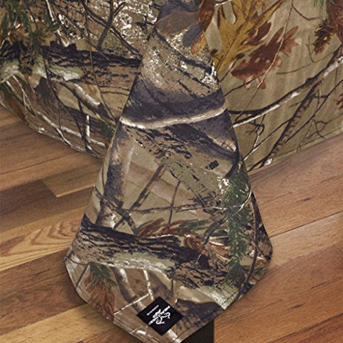 Design Imports Realtree AP Cotton Tablecloth Camouflage Print 54-Inch by 90-Inch Oblong (Camouflage Tablecloths)