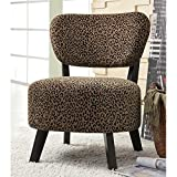 Coaster Home Furnishings 900420 Animal Print Pattern Contemporary Armless Accent Chair, Leopard