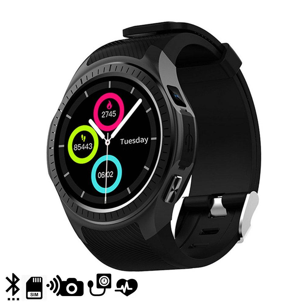 Silica DMX118BK DMX118BK - Smartwatch Bluetooth l1 para iOS y Android con Pantalla Circular y Monitor cardíaco Negro