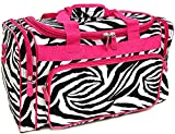 Snowflake Designs Duffel Bag - Zebra with Pink Trim