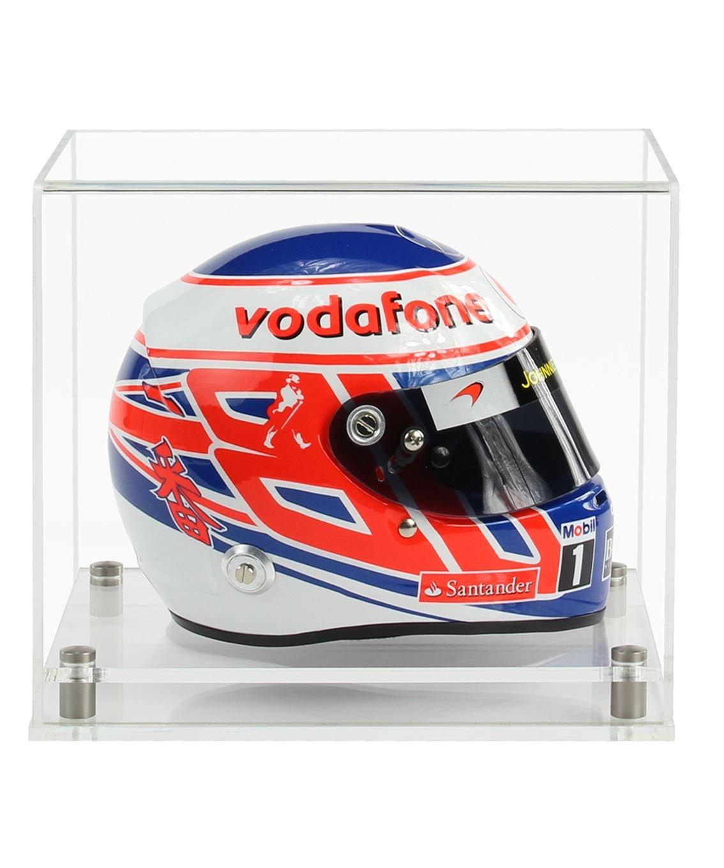 Widdowsons Display Cases 1/2 Scale Crash Helmet Display Case with a Wooden Base, Acrylic, 23.2 x 18.2 x 18.1 cm Widdowsons Ltd TDD021