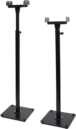 VideoSecu 2 PA DJ Club Satellite Adjustable Height Speaker Box Stand