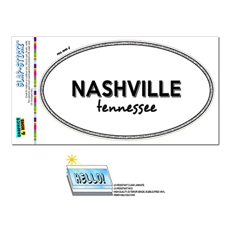 Amazon Com Euro Oval Window Bumper Laminated Sticker Tennessee Tn