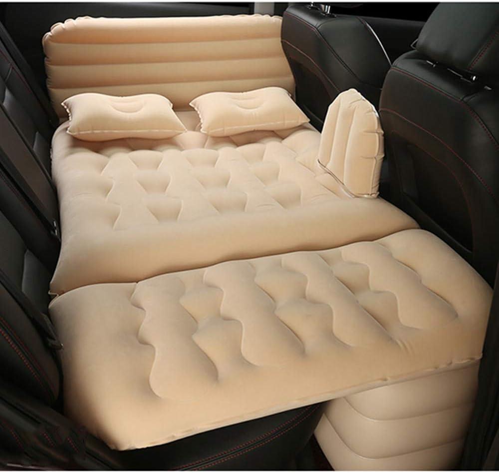 TTJZ Im Fahrzeug eingebaute aufblasbares Bett Multi-Funktions-Auto-hintere Kinderschlaf Pad Erwachsene Sit Kinder liegen Erdbeben Reisebett Air Cushion Bed,Beige
