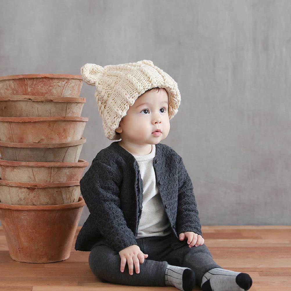 DiiZii Berretti invernali cappelli in maglia berretto a coste Baby unisex 0a1c0907ba6d