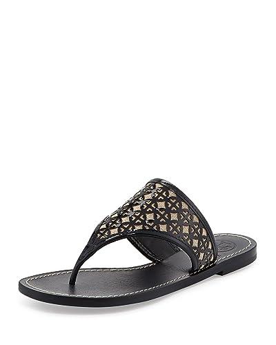 6964a12373c6f6 Tory Burch Amara Laser-Cut Patent Thong Sandal