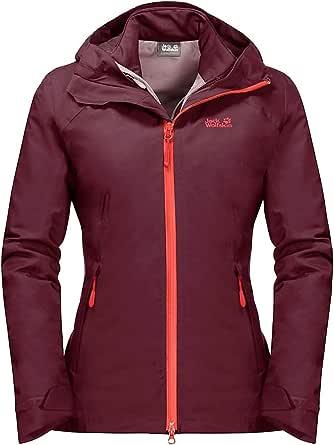 Jack Wolfskin Women's Aurora Sky 3-in-1 Waterproof Hybrid Down-Fiber Insulated Jacket