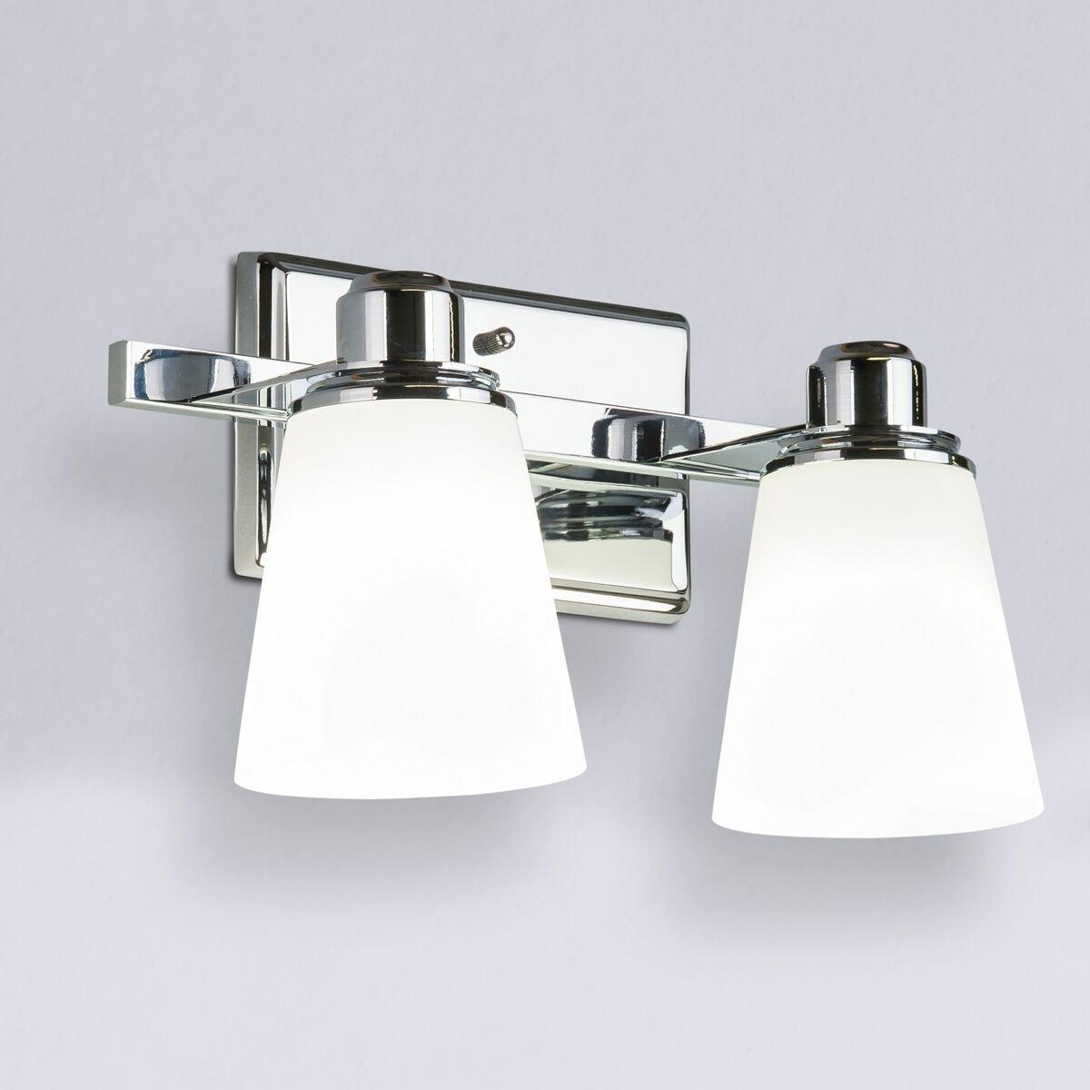 Terracina Two-Light Vanity Sconce Lamp, Polished Chrome with Opal Glass Linea di Liara LL-WL220-2 by Linea di Liara (Image #2)