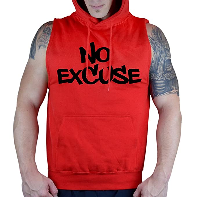 a3dd93752adfbe Men s No Excuse V121 Sleeveless Vest Hoodie at Amazon Men s Clothing ...