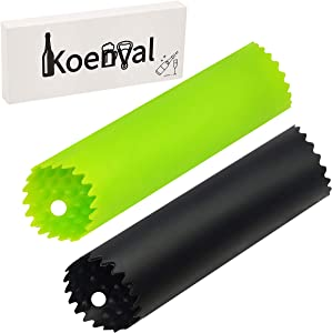 PRO Garlic Peeler, Koenval Large Food Grade Silicone Tube Roller 2 Pieces Useful Kitchen Gadget Garlic Tools Easy To Roll Odor-free