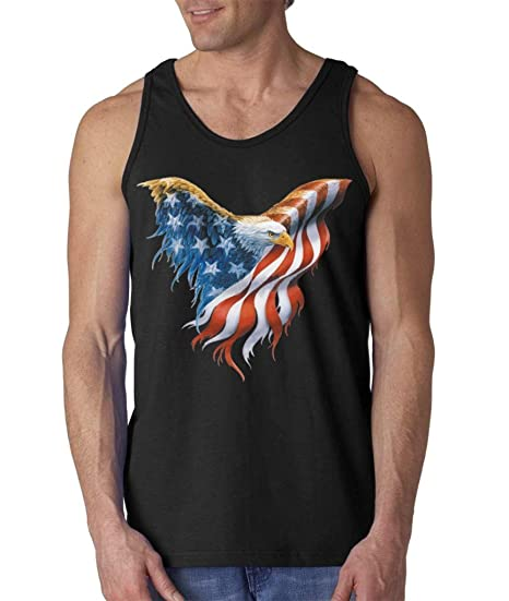 140c60749e8ccd Shop4Ever Eagle USA Flag Men s Tank Top 4th of July Tank Tops Small Black 0