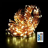 Joly Joy LED String Lights Waterproof 66ft/20m 200LEDs Dimmable Flexible Copper Wire Light Indoor & Outdoor Christmas Decorative Lights with UL Certified for Bedroom, Patio, Parties (Warm White)