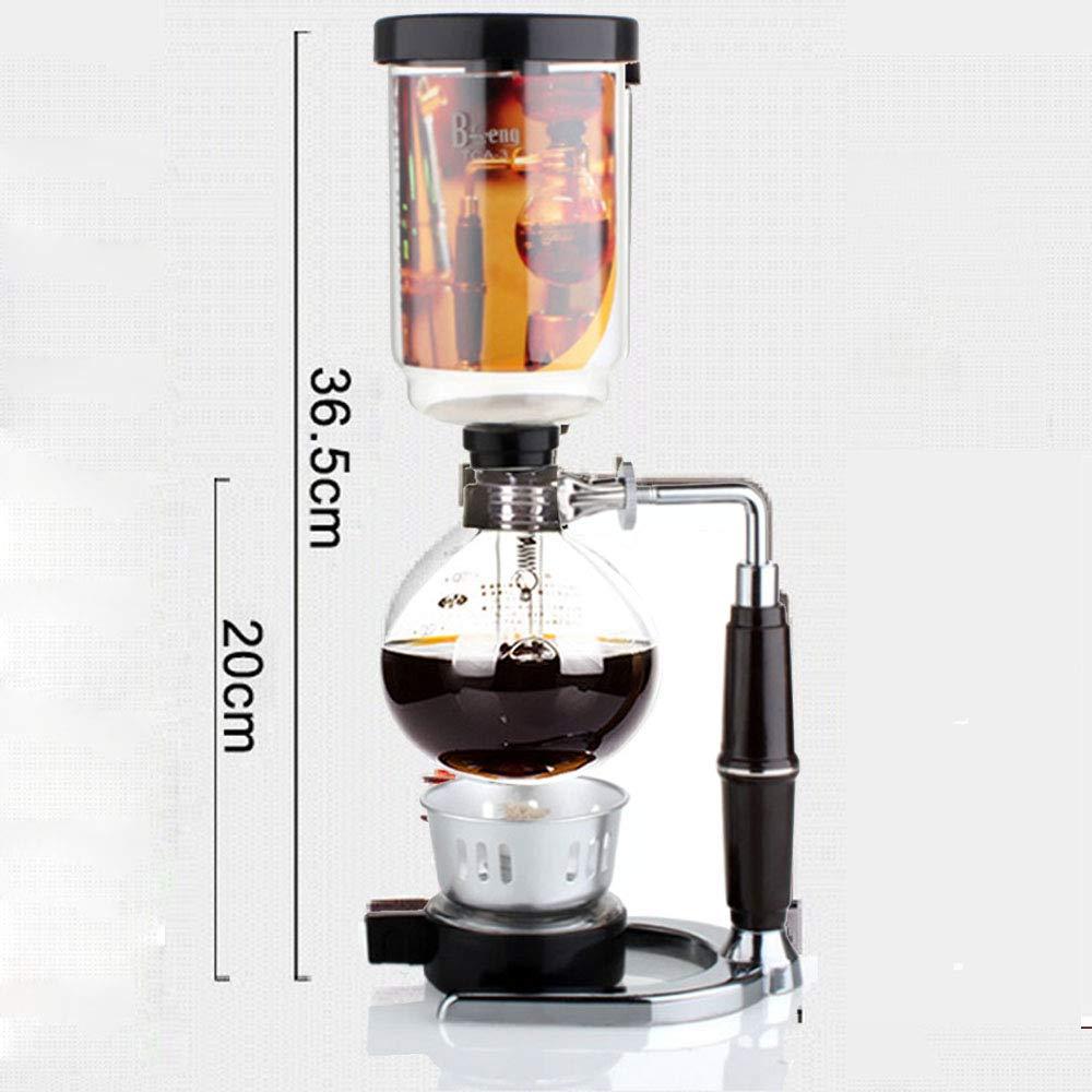 Siphon Siphon Coffee Maker Japanese Style Vaso de vac/ío Siphon Pot Percoladores 1-3 tazas Siphon Coffee Maker