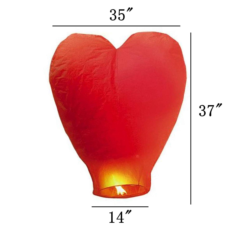 Eco Amichevole Lanterna di Carta Resistente al Fuoco Senza Fili 100/% biodegradabile al Rilascio in Cielo Set di 5, Bianco GCOA 5 Pack Lanterne Cinesi del Cielo