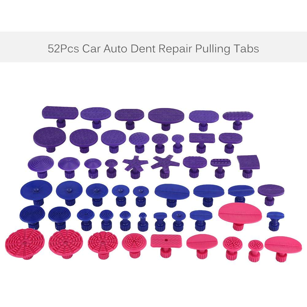 Dent Removal Tools 52Pcs Car Auto Body Dents Removal Pulling Tabs Paintless Dent Repair Tools