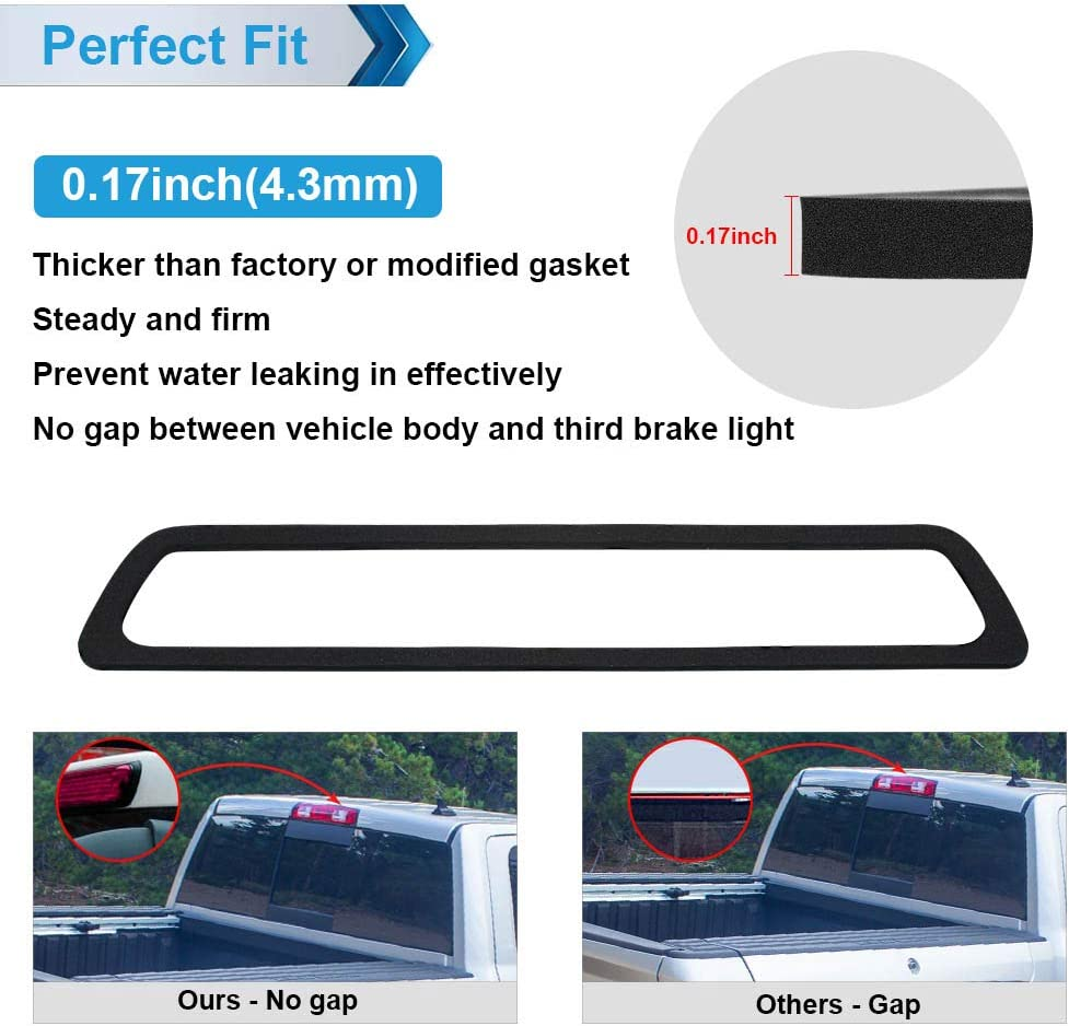 Single-sided adhesive MbuyDIY 3rd Third Brake Light Gasket Seal Compatible with 2009-2014 F150 High Mount Stop Lamp Assembly