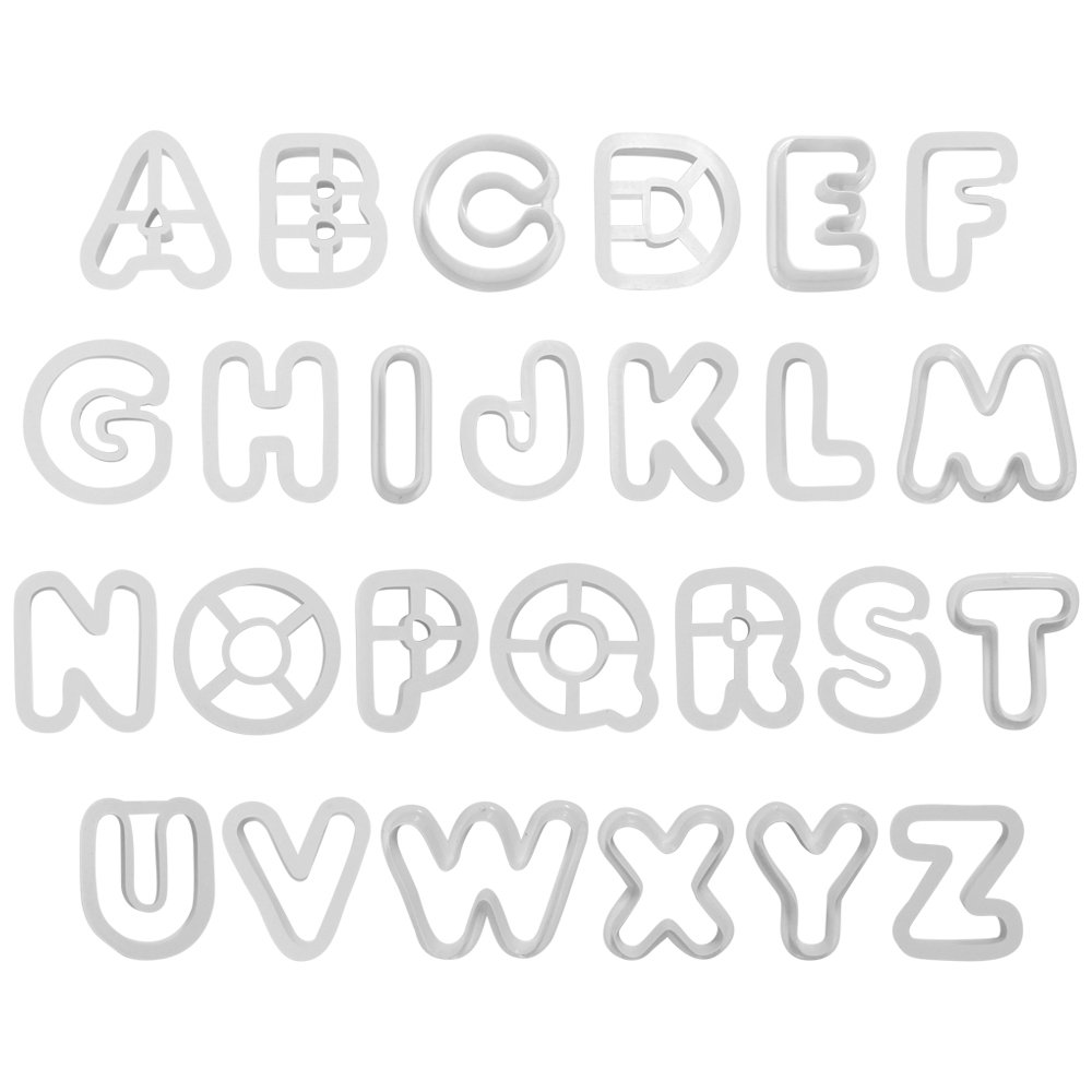 PME Alphabet Cutters for Sugarcraft and Cake Decorating, Set of 26 AN300