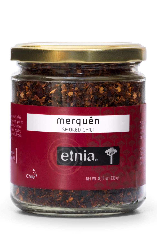 Etnia Merquen Premium Chilean Smoked Red Hot Crushed Chili Pepper Flakes Seasoning Spice, 8oz jar