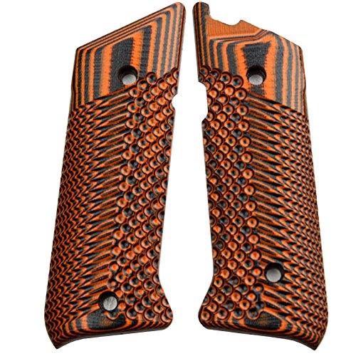 (StonerCNC Ruger Mark IV Target Hunter or Competition Grips G10 Slash and Burn Design Fits Ruger Mark IV Rimfire Pistols Only (Orange)