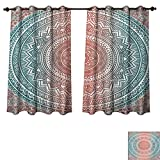 Best Norbi Curtains For Living Rooms - Teal and Coral Blackout Thermal Backed Curtains Review