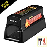 Pestrax Electronic Mouse Trap Used for Rats, Mice, Squirrels & Rodent Humane Safe Exterminating - Best Pest Control Rat Zapper & Repellent Eliminator - UPGRADED VERSION (Batteries Included)