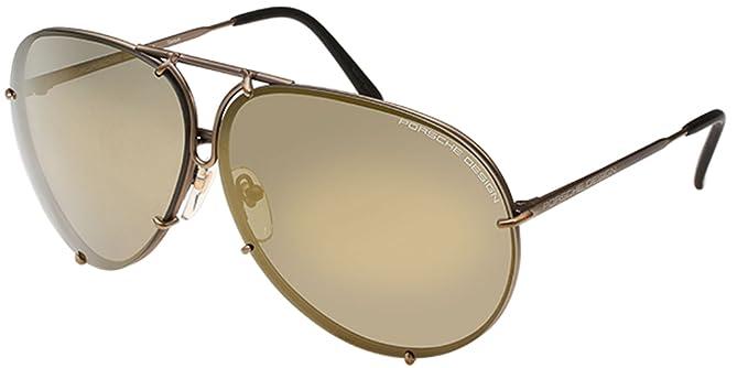 eeea5d8ac215 New Porsche Design P 8478 E(66 10 135) Copper Dark Gray Dark Cheddar  Sunglasses  Amazon.co.uk  Clothing