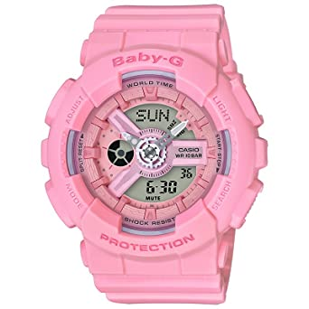 Casio Baby-G G-Shock BA-110 Series BA110-4A1 46.3mm Resin Women s Watch  (Pink)  Amazon.co.uk  Watches 00b693def6