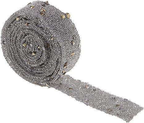 Breit 1,5 cm Golden AB Baoblaze 1,2 M Strassband Hotfix Mesh Band Dekoband zum Aufb/ügeln f/ür Hochzeit und Schmuck Dekoration
