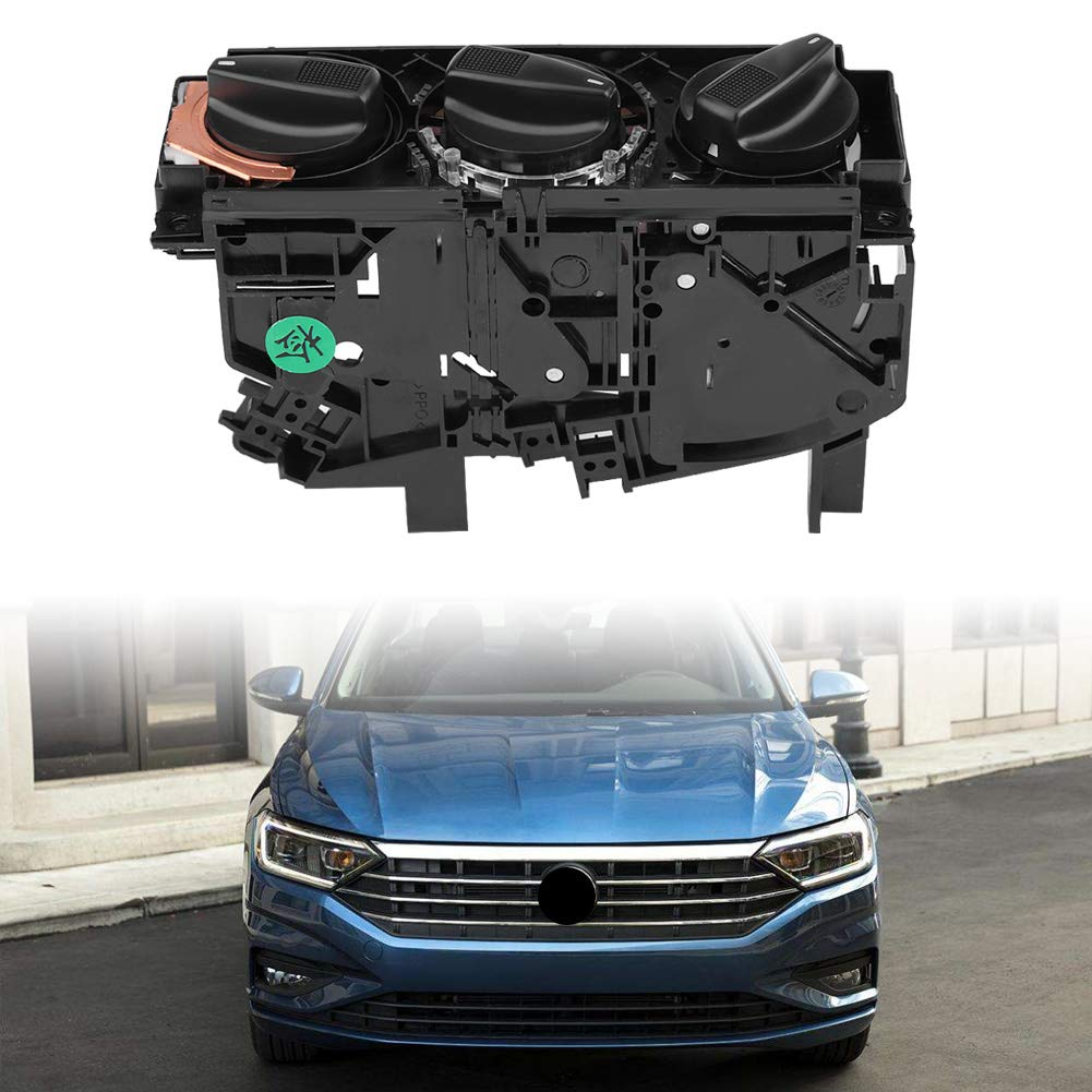 Calentador de aire del autom/óvil Interruptor del calentador Perilla de ajuste Cubierta del bot/ón 1H0820045D Control del interruptor del calentador del aire acondicionado del autom/óvil MK3 VENTO EUROVA