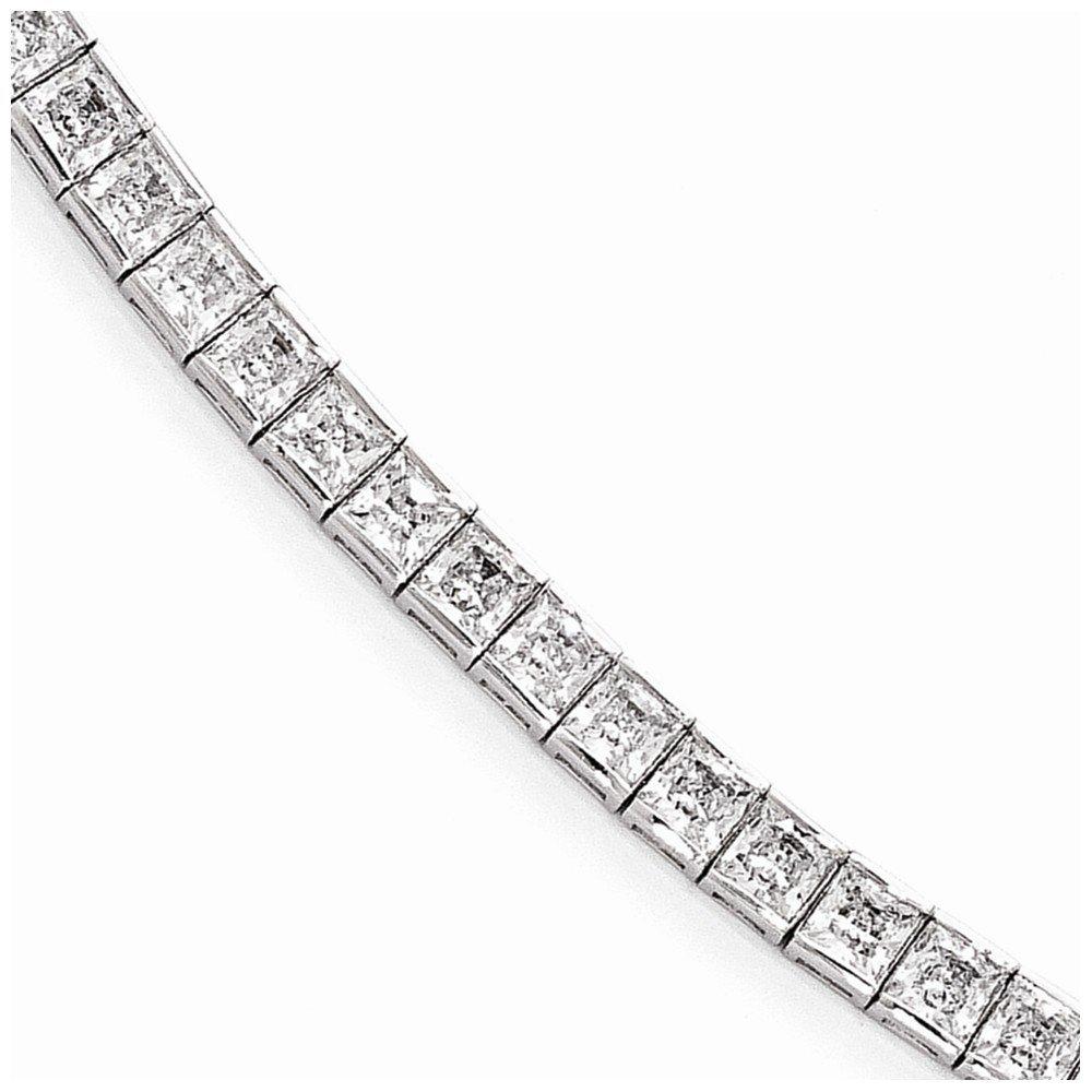 Sterling Silver CZ Cubic Zirconia 7in Bracelet 7'' (4mm)