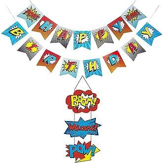 HEALLILY Banderas de Papel Decorativas Forma de Helado Banderas de Guirnaldas de Empavesado para Fiestas Tem/áticas de Verano Decoraciones de Cumplea/ños para Beb/és