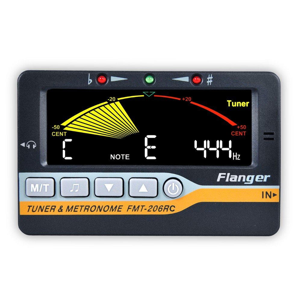 ELEOPTION FMT-206RC 3 in 1 Multi-Instrument Device Metronome Tuner LCD Display Generator Tuner for All Instruments Guitar, Bass, Violin, Ukulele, and Chromatic Tuning Modes
