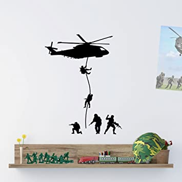 Army Men Military Soldiers Helicopter Wall Decorations Window Stickers Wall  Decor Wall Stickers Wall Art Wall Part 35