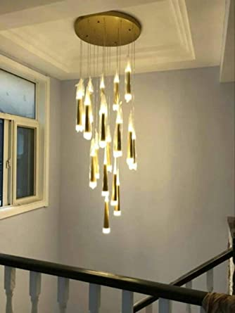 Luces colgantes modernas para escaleras Luminarias suspendidas Luminarias para escaleras Lámparas colgantes Lámpara colgante de interior DIY @ 12 luces: Amazon.es: Iluminación