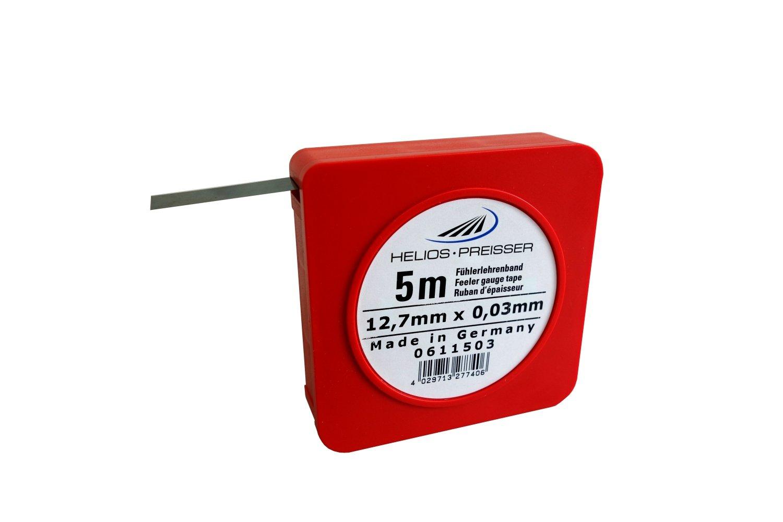 HELIOS-PREISSER 611503 Fü hlerlehrenband 5 m x 13 mm i.Plastikdose 0, 03 mm