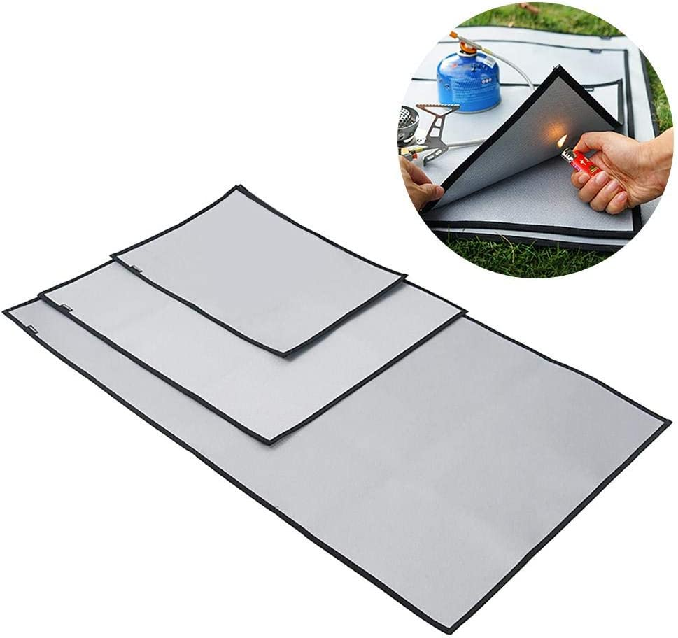 Outdoor Camping Fireproof Cloth Picnic Barbecue Heat Insulation Pad Flame Retardant High Temperature Resistant Silicone Coating Fiberglass Fire Blanket