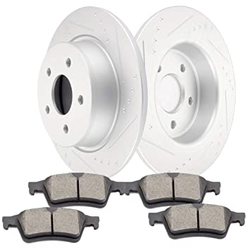 Front Discs Brake Rotors For Chevy Equinox 2005 2006 Drilled and Slotted 2PCS