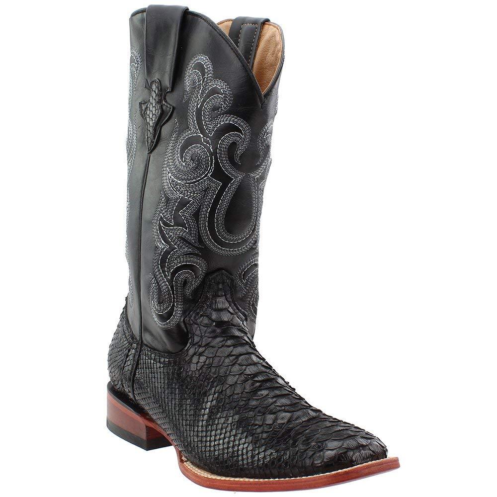 [Ferrini] メンズPython Cowboy Boot Square Toe – 1069309 13D ブラック B07DB8Z3XM
