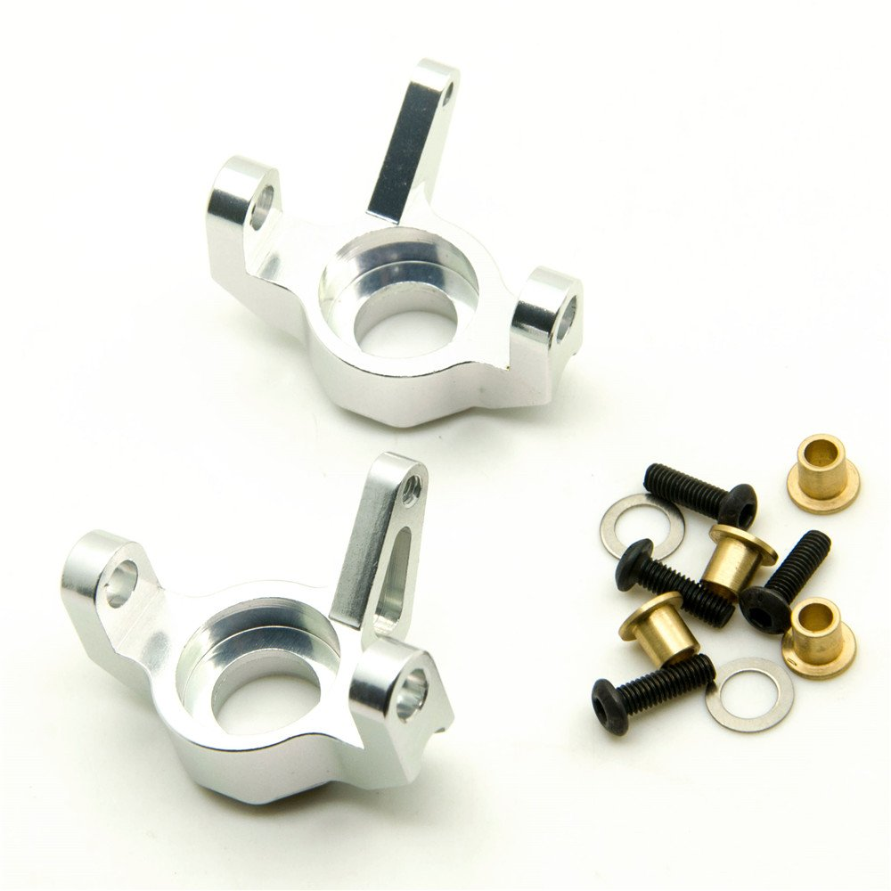 1 Pair Alloy Steering Front Knuckle for 1/10 Axial Wraith RC Crawler Car Black Que-T