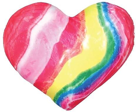 Amazon.com: iscream Good Vibes! Swirly Rainbow Candy Heart Shaped ...