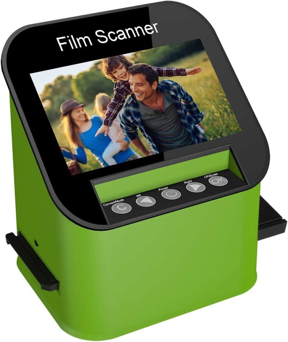 DIGITNOW Digital Film & Slide Scanner, Converts 35mm, 110 & 126 and Super 8 Films & 8mm Film Negatives & Slides to 22 Megapixel JPEG Images Includes Large 4.3 Inch TFT LCD Display