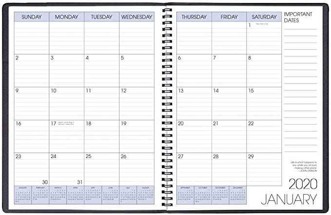 Payne Publishers 2020 Calendars Turq Shimmer Lg Time Wkly Planner with