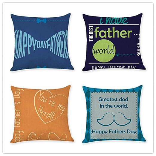 HUAXF Juego de 4 Piezas Feliz día del Padre Impresión a ...