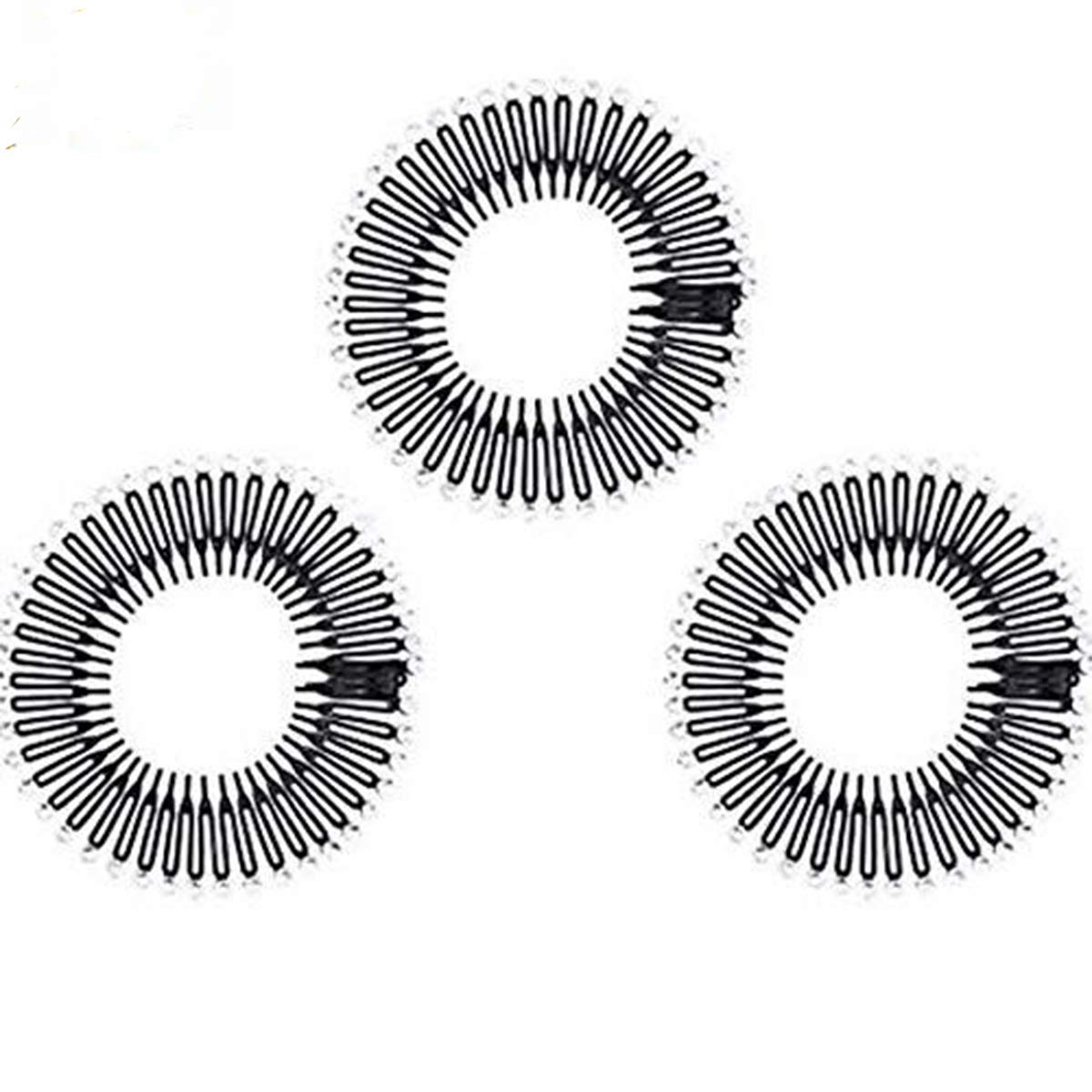 Details about  /Flexible Comb Teeth Headwear Hairband Hair Styling Accessories Womens Girls Comb