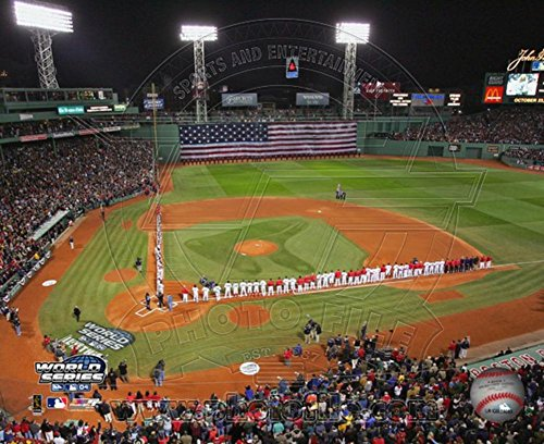 2004 World Series Pictures (2004 World Series Opening Game - Nat'l anthem, Fenway Park, Boston Photo 14 x 11in)