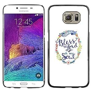 Paccase / SLIM PC / Aliminium Casa Carcasa Funda Case Cover para - You God Minimalist White Text - Samsung Galaxy S6 SM-G920