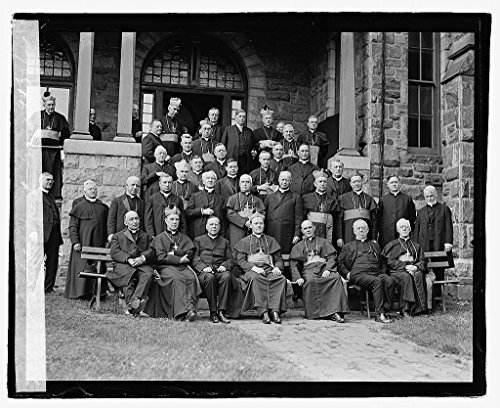 Vintography 8 x 10 Reprinted Old Photo Catholic Priests Group, 9/27/22 1922 National Photo Co 80a by Vintography